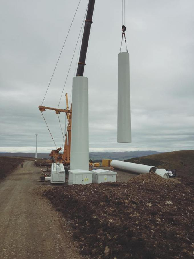 Gamesa Turbine, Hare Hill Wind Farm, Scotland. Photo by Gerard Thompson