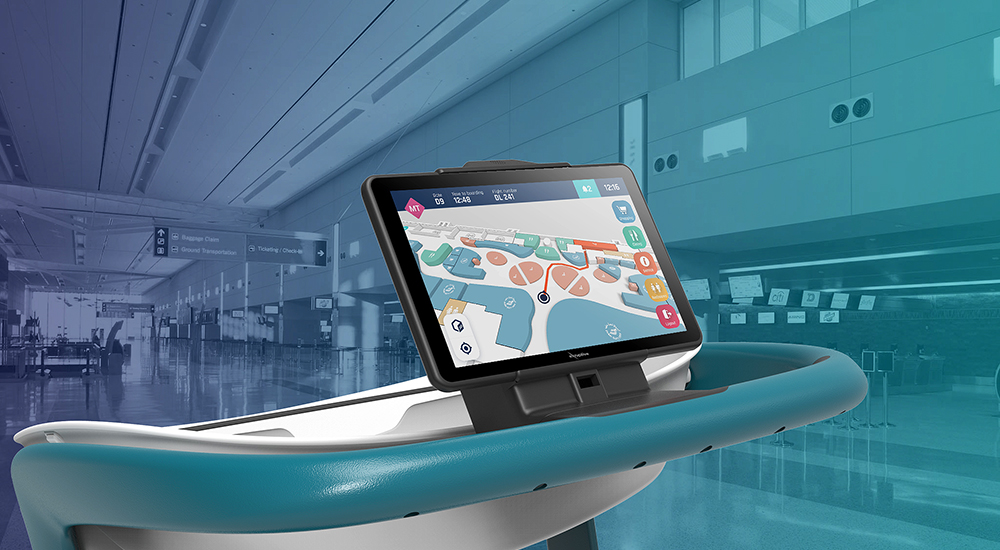 emaratech presents smart trolley and intelligent baggage systems