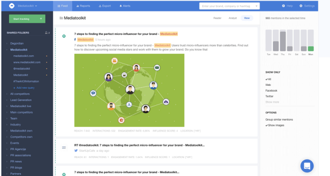 Mediatoolkit - software for monitoring competitors mentions