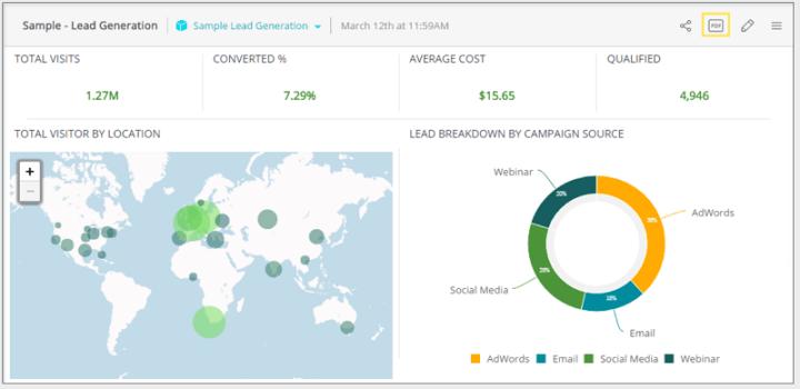 Sisense BI reporting tool - screen shot