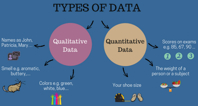qualitative and quantitative data - a short infographic