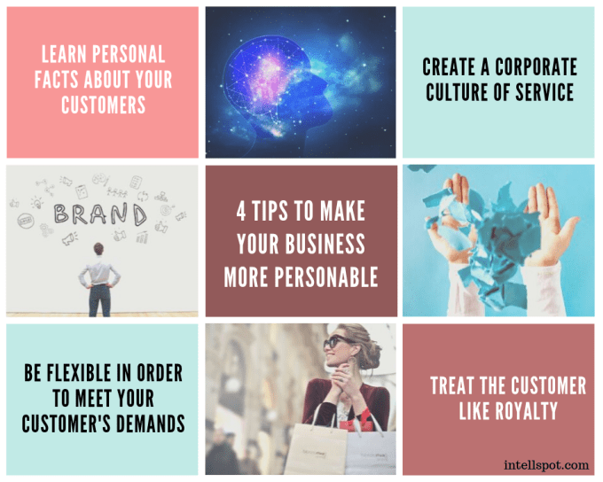 4 tips To Make Your Business More Personable - infographic