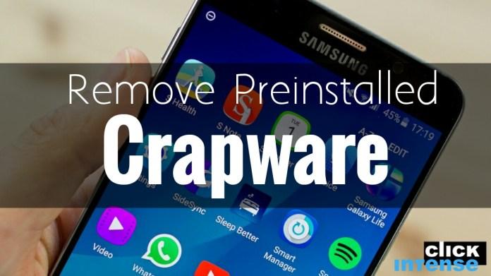 Remove Preinstalled Crapware