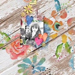 Flower Fusion Papers and Elements by Etc. by Danyale A Bit Worn Templates by Valorie Wibbens