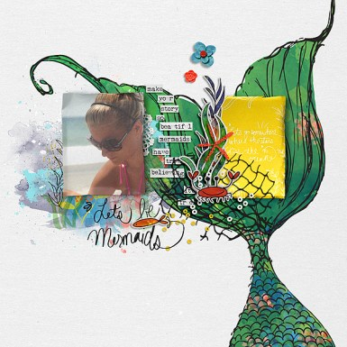 Let's Be Mermaids by Valorie Wibbens Let's Be Mermaids Journal Cards by Valorie Wibbens Sprinkles V43 by Valorie Wibbens A Bit Worn Topography No. 1 by Valorie Wibbens