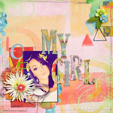 Mixed Paint Paper by Etc. by Danyale Mixed Bag Elements by Etc. by Danyale Alphabet Soup - Mixed Bag #1 by Etc. by Danyale August Challenge Template by Heather Joyce