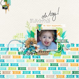 Oh Boy Collab by Just Jaimee and Pink Reptile Designs Storyteller 2016 April Template by Just Jaimee