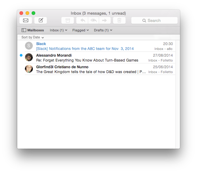 Apple Mail: Unified Box Approach
