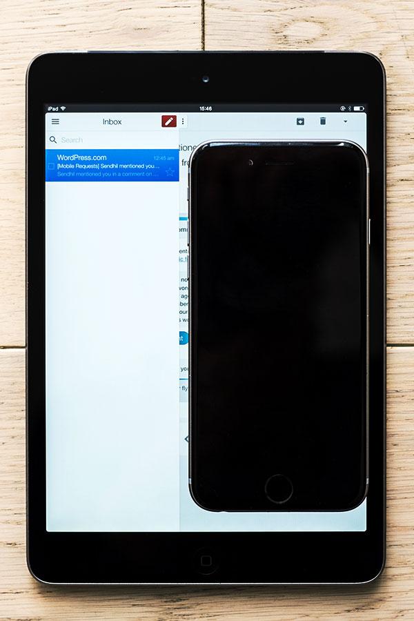 iPhone 6 on iPad Mini