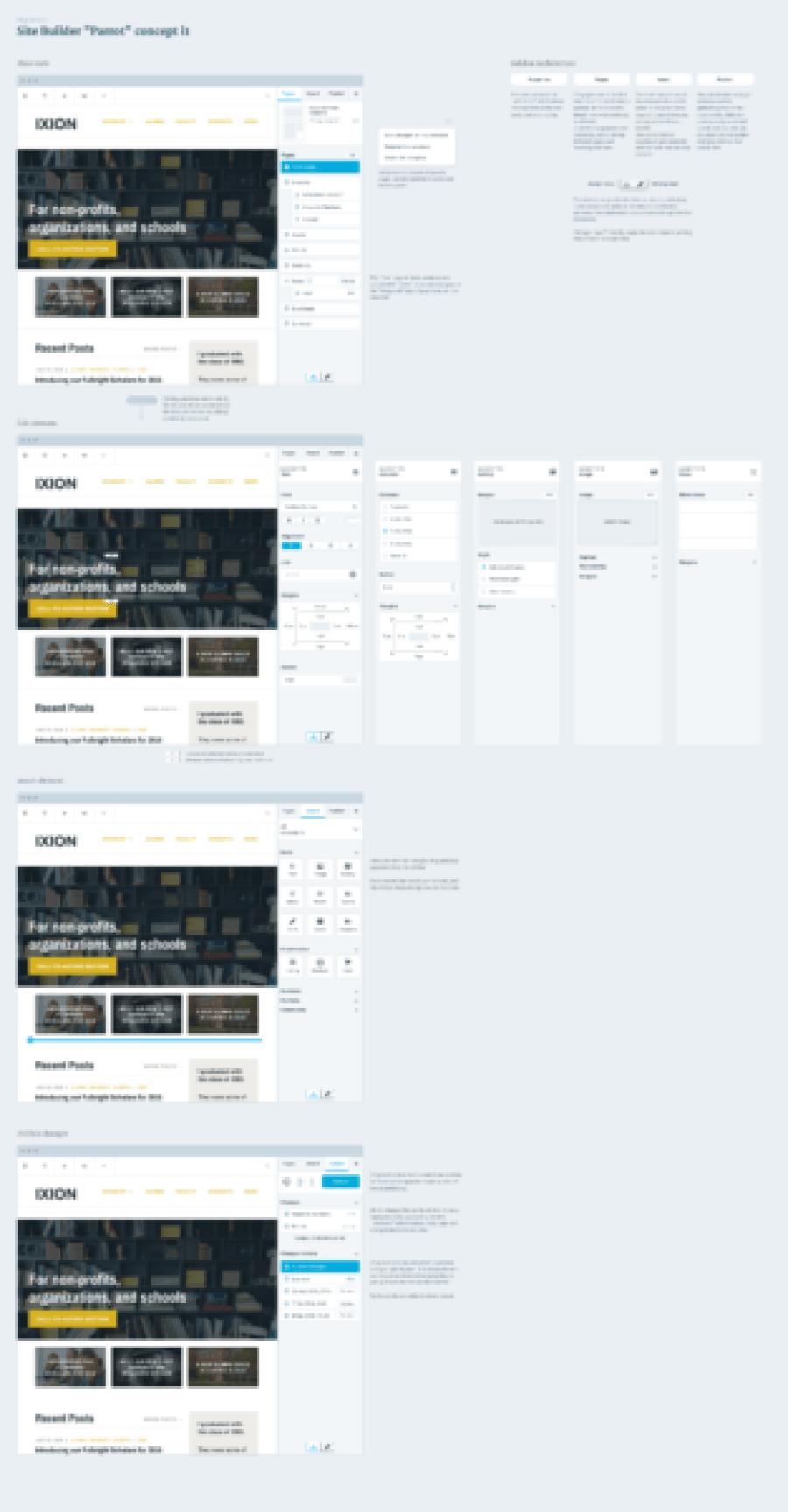 """Site Builder """"Parrot"""" concept"""