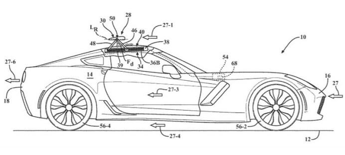 新型コルベット向け特許三連発。「アクティブサイドスポイラー」は初の試み?