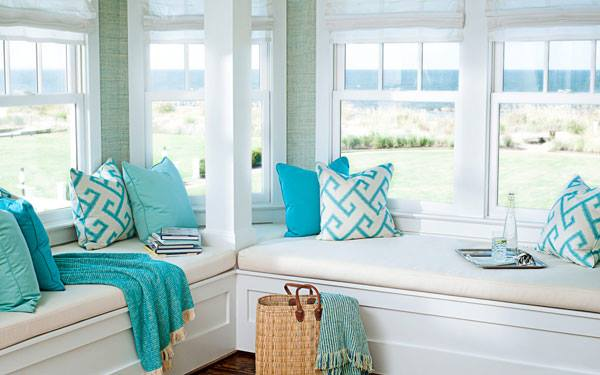 The Serenity Collection by Sunbrella brings the beauty of the ocean and beach indoors