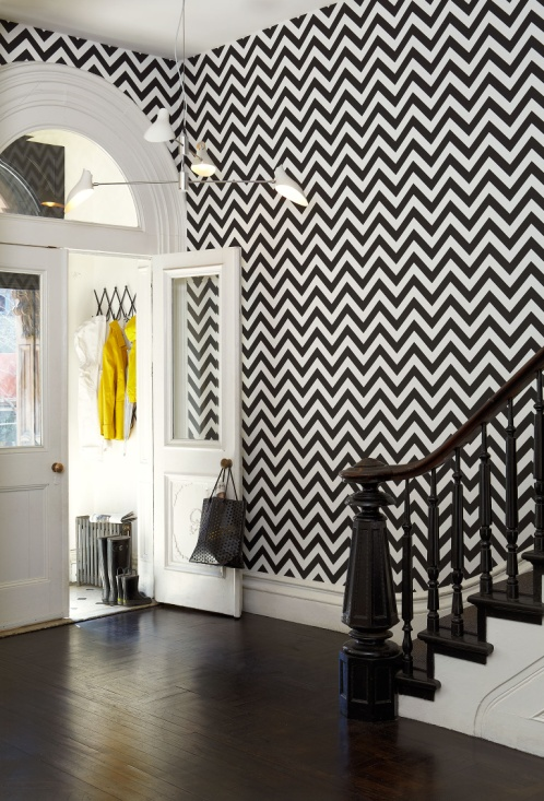 Martyn Lawrence Bullard wallcovering collection for Schumacher. Pictured: Chevron