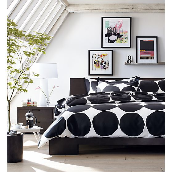Crate and Barrel,  Marimekko Kivet Black bedding