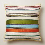 Beaded Water Lilly Pillow from Anthropologie