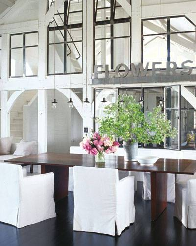 Elle Decor Celebrity Homes: Meg Ryan, Dining Room Photographer: William Waldron