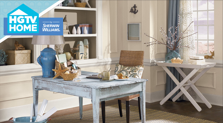 Sherwin Williams SW 7036 Accessible Beige.  HGTV Coastal Cool