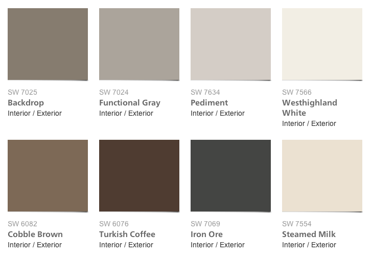 Pottery Barn Paint colors for Fall/Winter 2013. intentionaldesigns.com