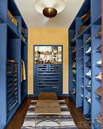 Nate Berkus Chicago Apartment. Elle Decor. Photographer: Pieter Estersohn. Master Closet