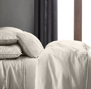 Restoration Hardware: STONEWASHED BELGIAN LINEN TIPPED BEDDING COLLECTION