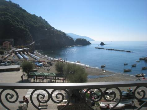 Cinque Terre, Monterosso Italy, view from our room