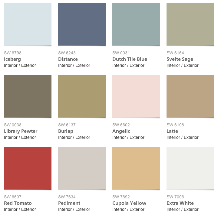 sherwin williams pottery barn springsummer 2014 paint colors