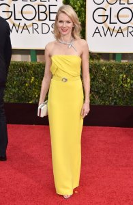 Trend Color Watch Yellow, Naomi Watts Golden Globes 2015 Red Carpet