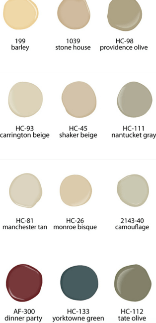 Benjamin Moore, Home Staging Paint Colors