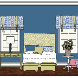 Intentional Designs Elevation Line Drawing. Bedroom.