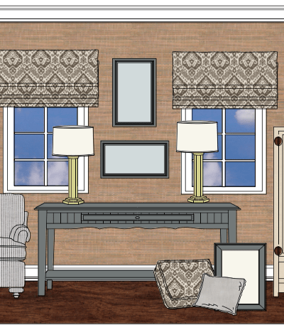 Design with a Plan. Intentional Designs Elevation Line Drawing. Double Duty Design.