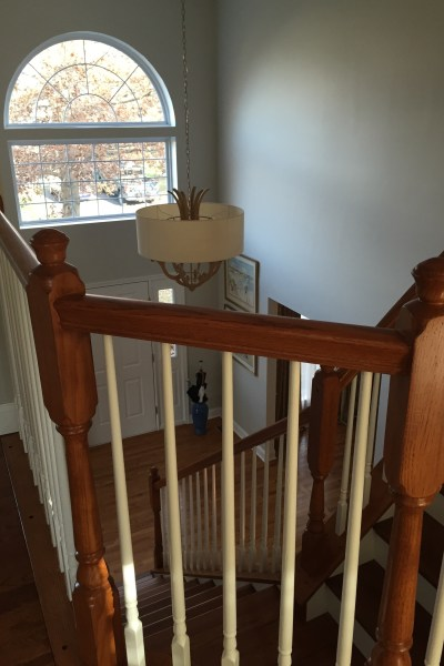 Before and After … Foyer Staircase