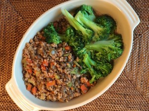 Food for Thought ... Leftovers. Farro + Lentils with Broccoli
