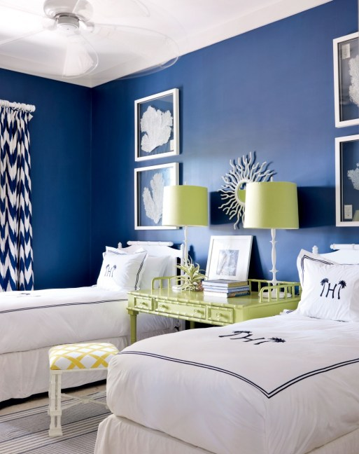 nightstands, twin bedrooms, Spring Cleaning, Planning for your Fall Decorating, May's color of the month ... Blue
