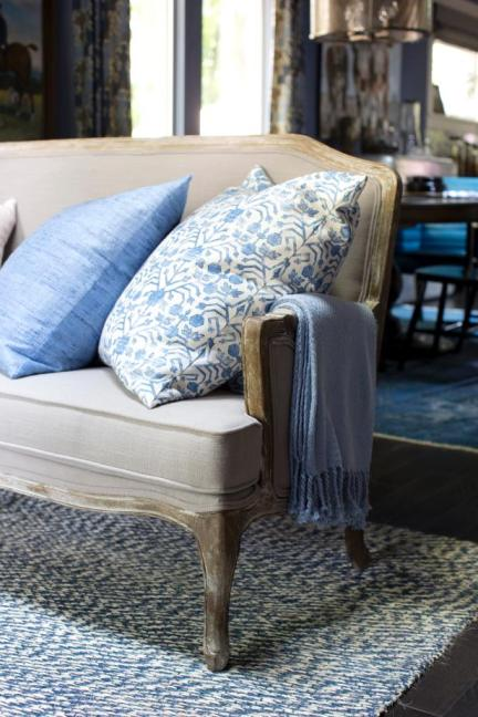 Living Room, Textiles, Urban Oasis 2015, Sherwin-Williams 6536 Searching Blue
