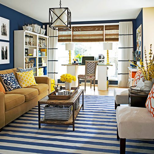 Navy Blue, 2017 Fashion Trends, my top 5 family room decorating ideas for a family friendly space, decorate with blue