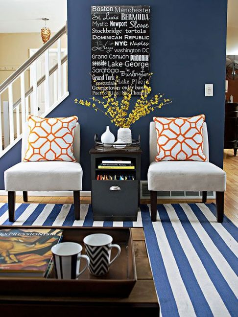 Navy Blue, February 2016 Top Decorating Ideas