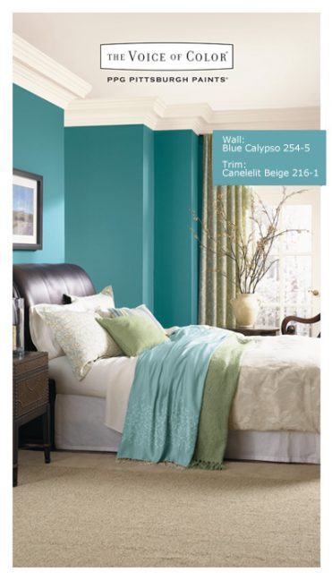 blue bedroom ppg the voice of color blue wall paint color blue