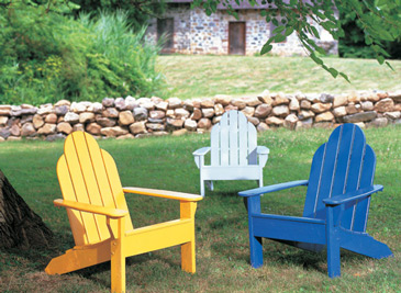 Painted Outdoor Furniture, Decorating Trend Pastel Colors, Benjamin Moore