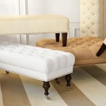 upholstered bench, Get the Look: White Bedroom