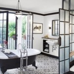 Black & White Industrial Chic Bathroom, freestanding tub, black and white tile