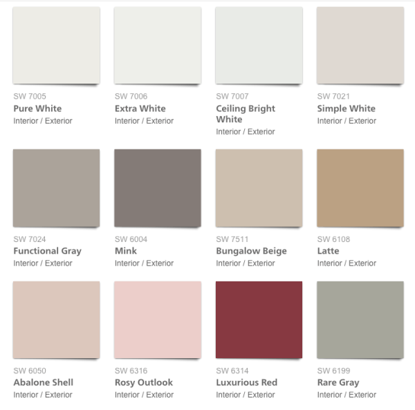 Pottery Barn 2017 Spring Summer Paint Colors