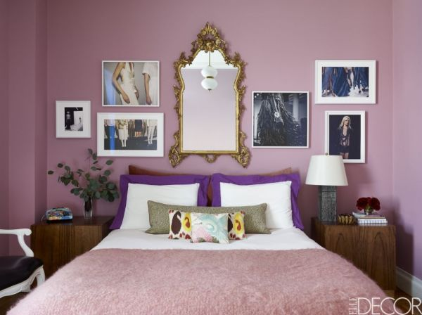 Blush Pink Paint Colour Shown On Walls