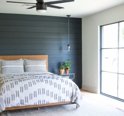 Shiplap Walls featured in 5 different rooms!