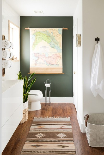 colorful painted accent walls