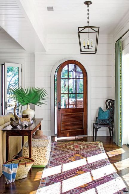 all-white room, entryway