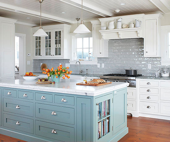 panited kitchen islands