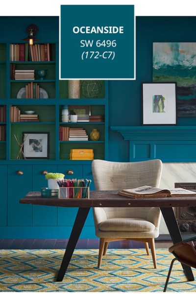 Oceanside, Sherwin-Williams 2018 Color of the Year