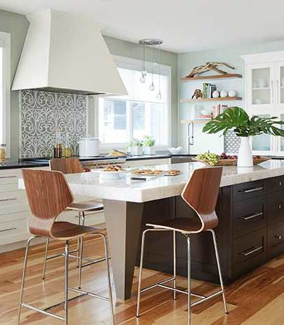 home decorating blog Spring 2018, two-tone kitchen cabinets