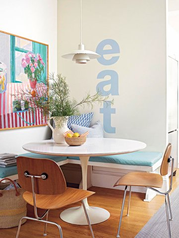 breakfast nook, banquette