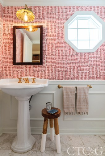 powder room, walllpaper
